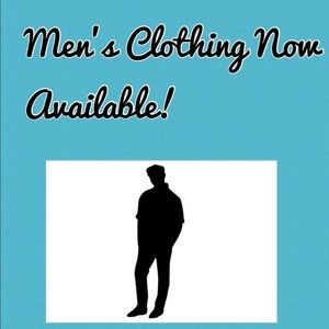 Other - Men's clothing now available and more to come!!